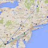 K8GP/R - FM08us 902M-10G QSO map - ARRL June VHF 2014 - Grn=902 Blu=1.2G Pur=2.3G Gry=3.4G Wht=5.7G Gld=10G