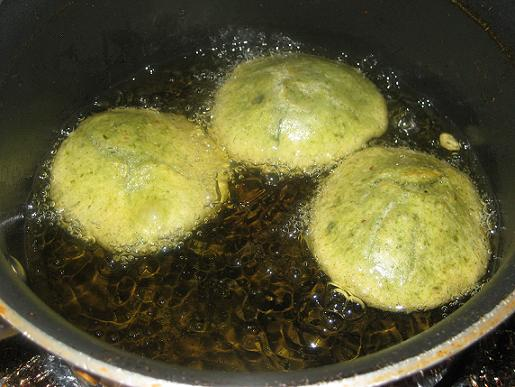 frying kachori