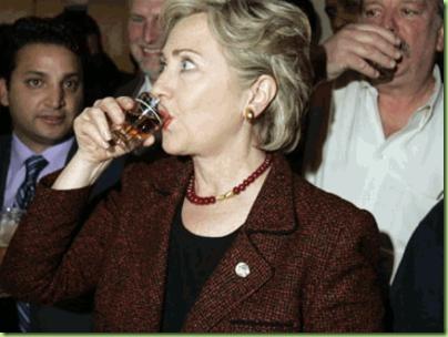 Hillary-Clinton-Drinking