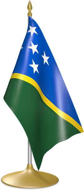 Solomon Island table flags - desk flags