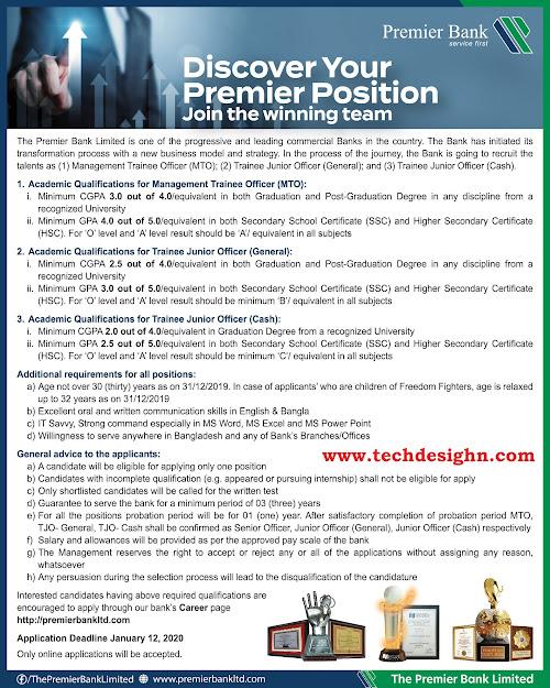 premiere bank job circular 2020