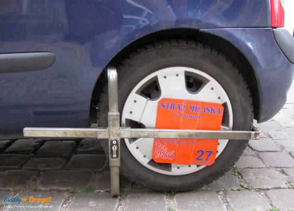Blokada Straży Miejskiej w Toruniu