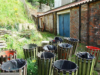 More bins ... behind the engine house, July 2007
