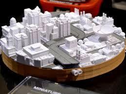 miniatur kota dengan printer 3d