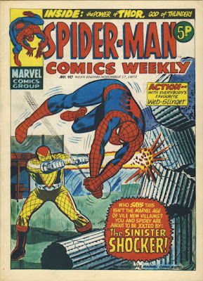 Spider-Man Comics Weekly #40, the first appearance and origin of the Shocker