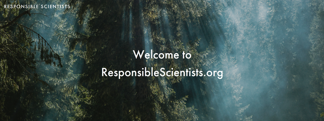 Masthead for the ResponsibleScientists.org site. Graphic: ResponsibleScientists.org
