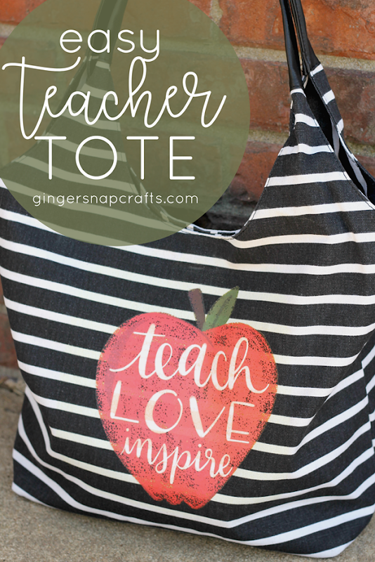 Easy Teacher Tote with Cricut #cricutmade #cricut
