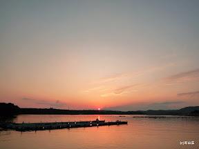2009/9/13の夕焼けです。キレイに沈んでゆく夕日でした。