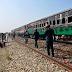 Twenty-five people were killed when two trains collided in Pakistan