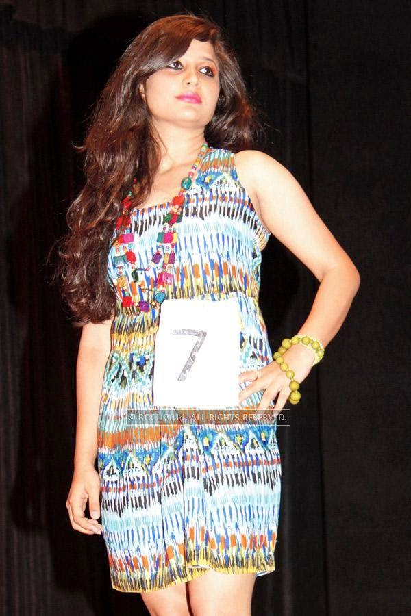 Komal during a fashion show, held at a Management institute, in the city.