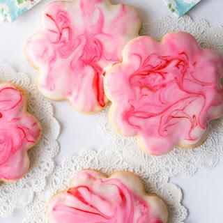 Glazed Shortbread Cutout Cookies.
