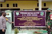 Babinsa 05/Permata dan Babinkamtibmas Polsek Permata Gelar Posko PPKM di Kecamatan Bener Kelipah