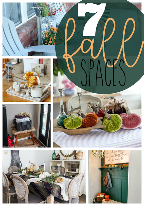 7 Fall Spaces at GingerSnapCrafts.com #fall #homedecor #forthehome