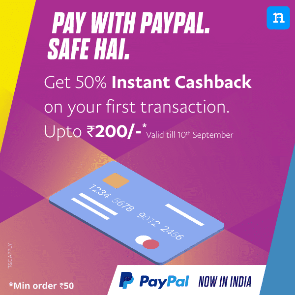 (Back Again) Niki App - Flat 50% Cashback upto Rs.200 on Recharges and Bill Payments via PayPal