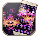 Neon Flowers Butterfly Theme icon