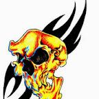 tribal - Skull Tattoos Designs