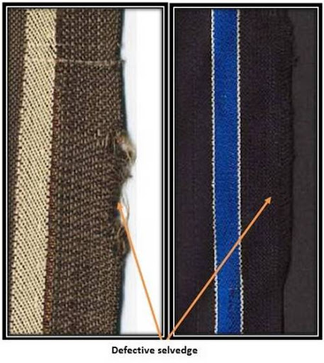 Defective selvedge