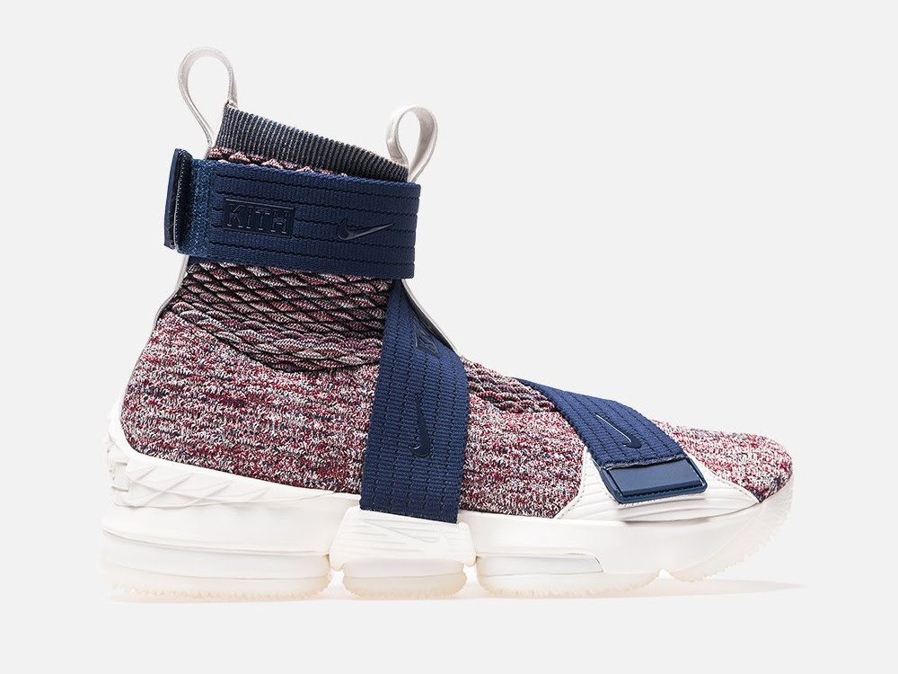 sale retailer 2b422 831b3 KITH X Nike LeBron 15 Lifestyle 'Stained Glass' w/ 3 Straps ...