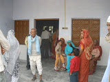 Patients at the new health clinic