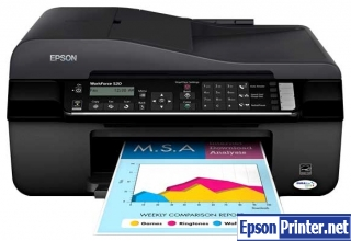 How to reset Epson WorkForce 525 printer