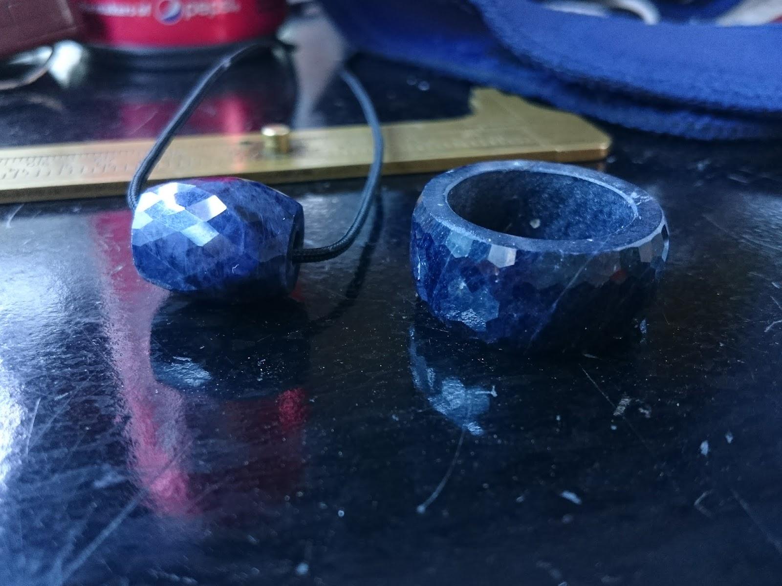 Nhẫn Càn Long, Lu Thống đá quý Sapphire nguyên khối