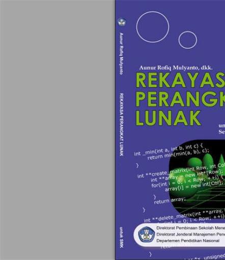 Buku Sekolah Elektronik Untuk Smk Rekayasa Perangkat Lunak Jilid 3