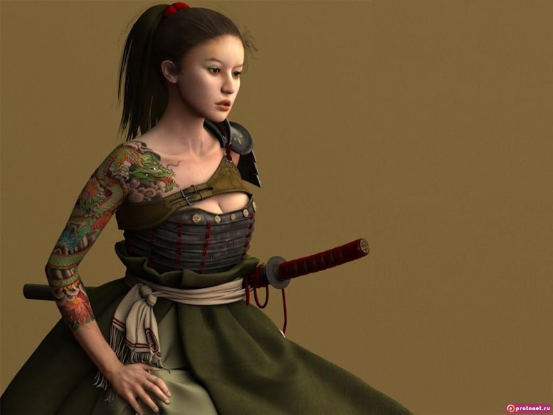 Green Dragon Beauty, Magic Samurai Beauties