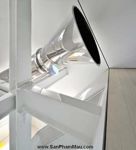 Khám phá căn hộ tươi sáng với cầu trượt thú vị cho trẻ nhỏ : Nội thấ căn hộ-8