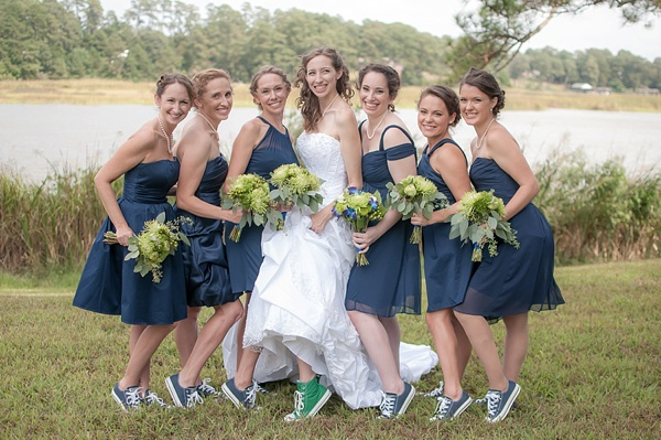 Quirky Kelly Green Converse Themed Wedding Tidewater And