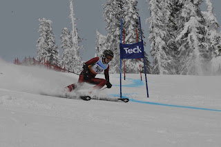 Big White K1 Provincials Ladies GS Race 2, Mar 18 2012 - Dickson Wong