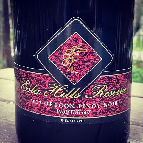 Today weu0027ll head back to Eola Hills Wine Cellars for a single vineyard single clone pinot noir & 2013 Eola Hills Wine Cellars Reserve Pinot Noir Wolf Hill Clone 667 ...
