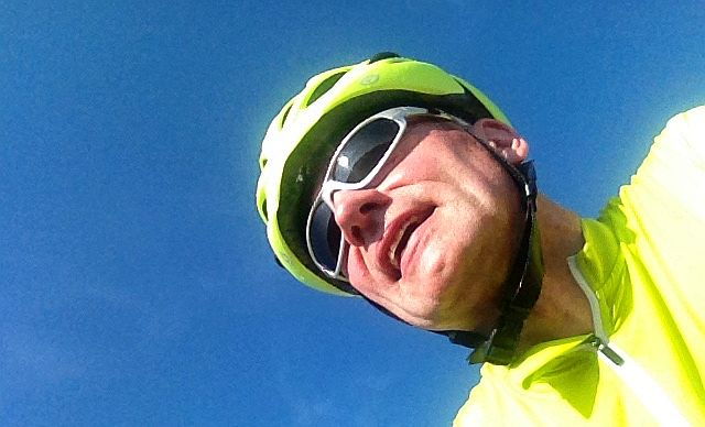 Chris on the Bike: Selfie