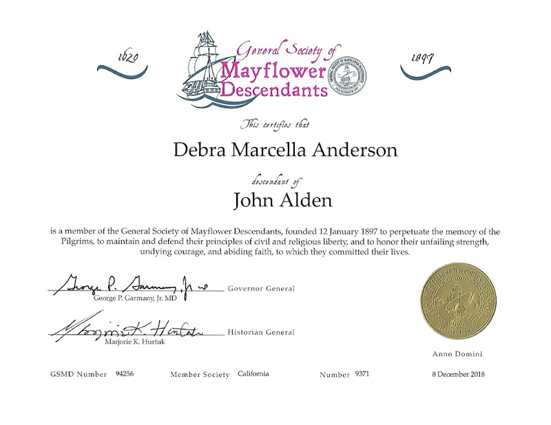 Mayflower certificate 2018