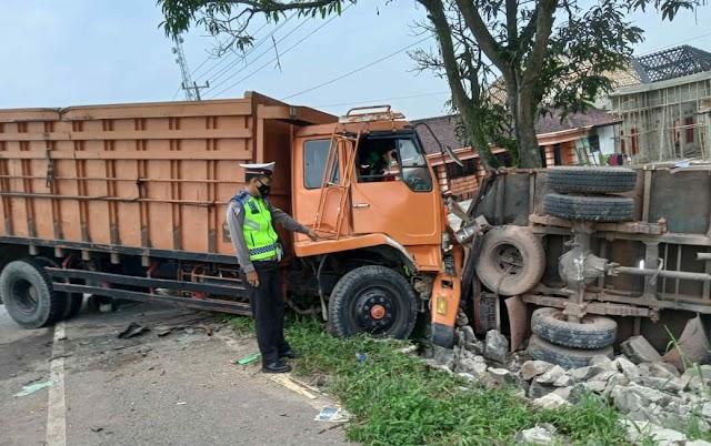 Kasat Lantas: Kronologi Kecelakaan Lalu Lintas Antara Truck Fuso vs Truck Colt Diesel di Jalintim