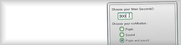 アドオンバーにシンプルなタイマー機能を追加する Egg Timer 0.1.1