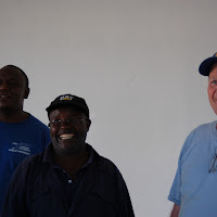 Machaa, Blasto and Al happy about the work accomplished.