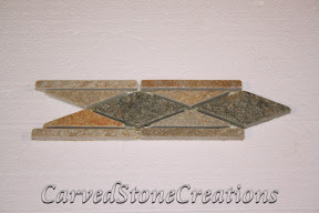 Border, Flooring, Flooring & Mosaics, Interior, Listello, Mosaic, Natural, Quartzite, Serengeti Gold, Stone