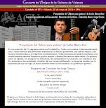 Programa del Concierto-presentación Carlos Blanco Ruiz y Jorge Orozco, en Amigos de la Guitarra de Valencia