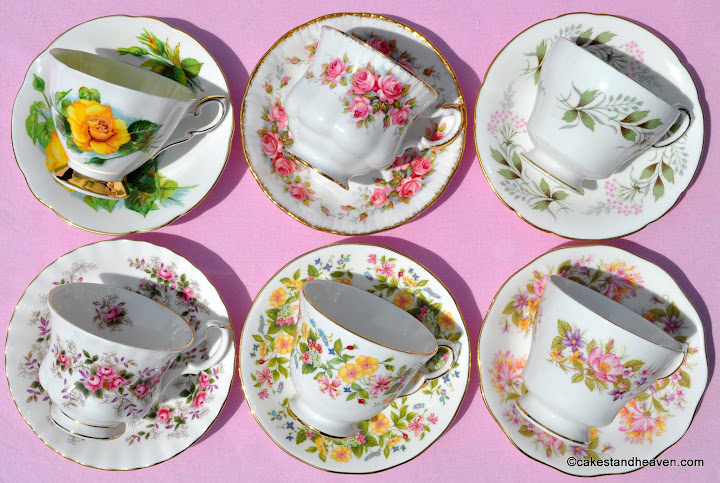 six teacups & saucers 4