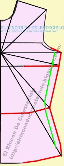 Trazando nuevo costado sobre las líneas diagonales