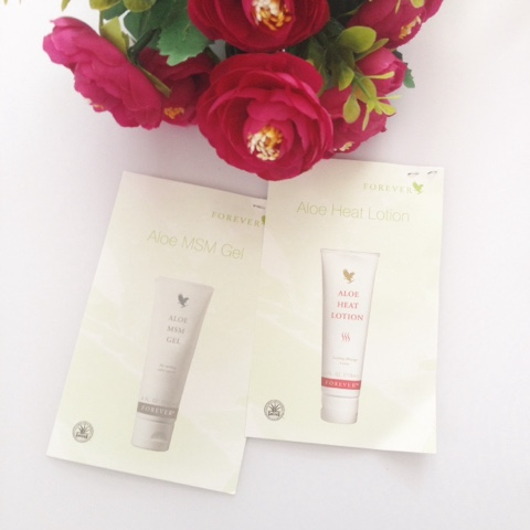 Forever Living Aloe MSM Gel and Aloe Heat Lotion