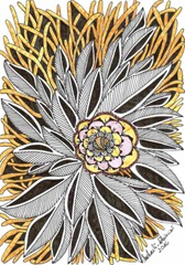 533 Zentangle Yellow Flower