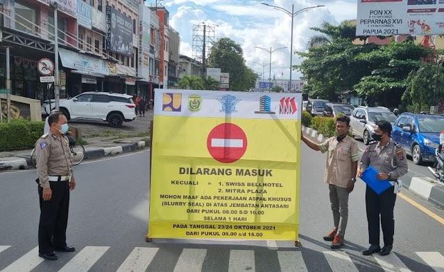 Jembatan Antasari Akan Diaspal Khusus, Polresta Banjarmasin Sosialisasikan Rekayasa Arus Lalu Lintas