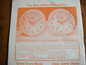 Photo: CH161 - the New Improved Version of the clock was advertised in several issues in 1965 before a photo was added - here in the September 1965 edition. CHESS had its' own Heidelberg printing press and used a variety of coloured inks on the front and back covers!