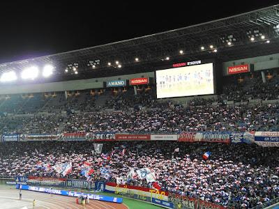 横浜F・マリノスゴール裏でのトリパラ
