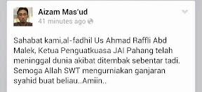 Seorang Penguatkuasa Agama Islam Pahang Ditembak Mati