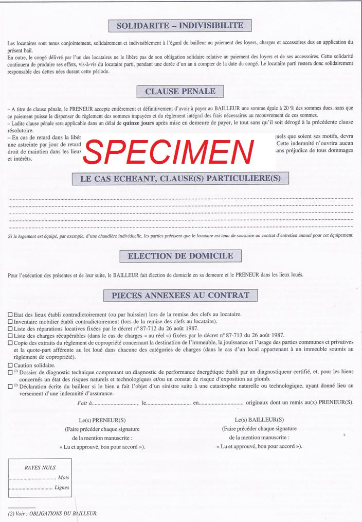 Immobilier bail location meuble gratuit for Declaration meuble