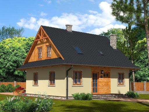 projekt Domek Ciepły szkielet drewniany 012 BD