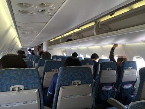 日本エアコミューター JAC3595便 機内