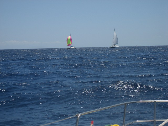 a gentle northward sail, a bumpy southward motor